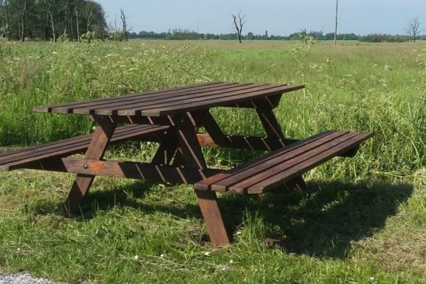 Dorpsbewoners schenken picknickbank