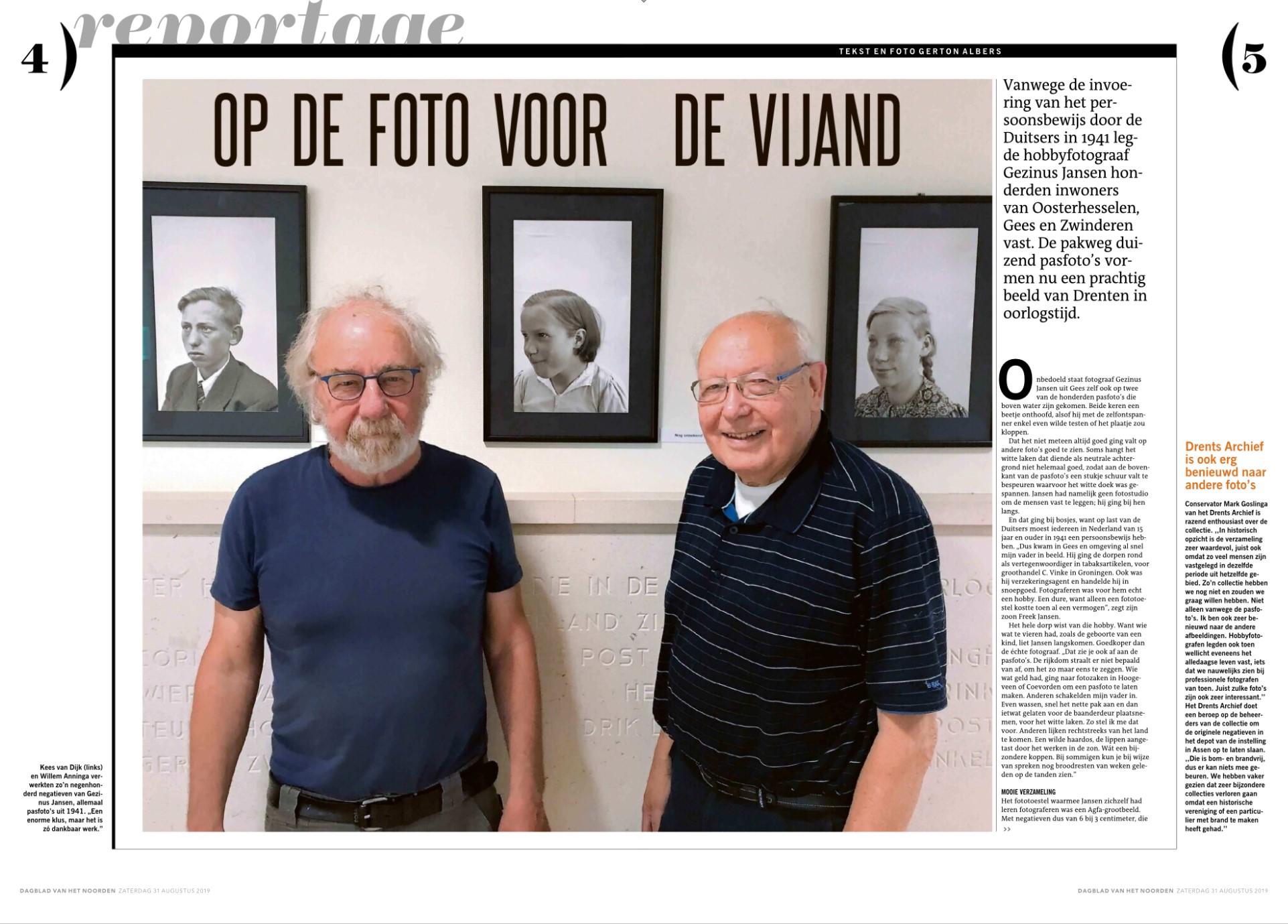 Kees van Dijk en Willem Anninga over het fotoproject