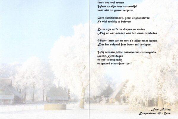 Gedicht en wensen Aaltje Alting