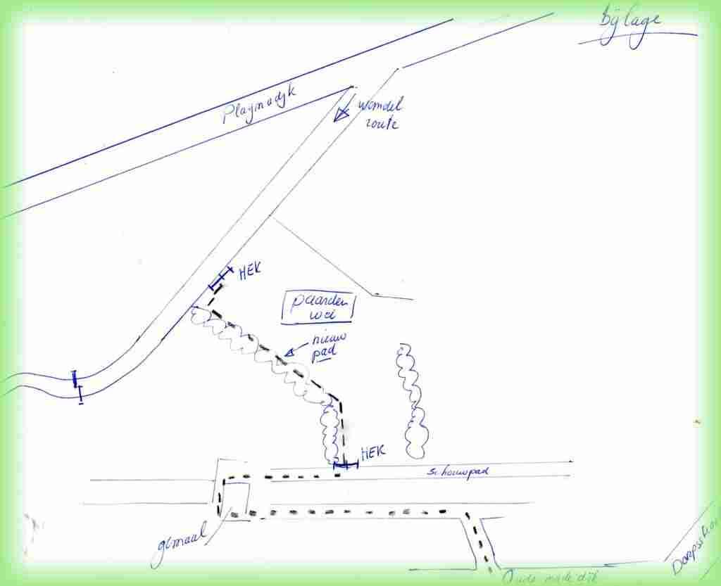Kaartje wandeling Plagmadijk