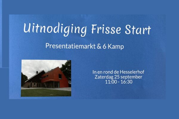 Kom naar de Frisse start en/of doe mee met de zeskamp