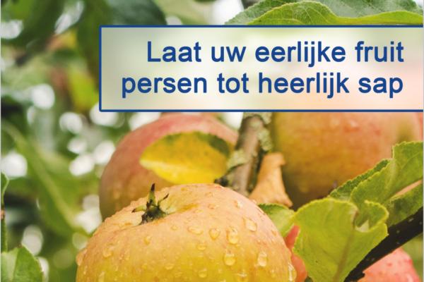 Appels of peren over? Laat ze persen